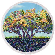 At The Country Place Round Beach Towel