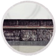 At The Edge Of Town Round Beach Towel