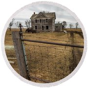 Round Beach Towel featuring the photograph At The Gate  by Aaron J Groen