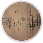 At The Pond Round Beach Towel