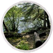 At The Water Edge. Round Beach Towel