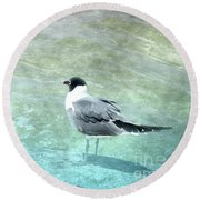 At The Waters Edge Round Beach Towel by Judy Hall-Folde