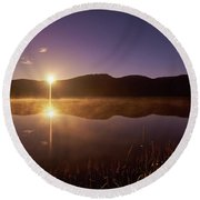 At The Waters Edge2 Round Beach Towel