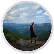 Appalachian Trail - Views Round Beach Towel