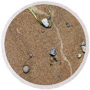 At Waters Edge 05 Round Beach Towel