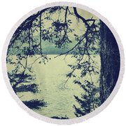 At The Water's Edge Round Beach Towel