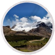 Athabasca Glacier  Columbia Ice Field Alberta Round Beach Towel