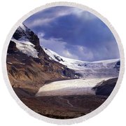 Athabasca Glacier Round Beach Towel by Heather Vopni