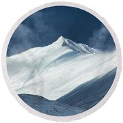 Atigun Pass In Brooks Range Round Beach Towel