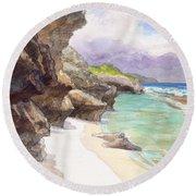 Atiu, Taungaroro Landing Round Beach Towel