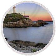 Atkinson Point Lighthouse Round Beach Towel