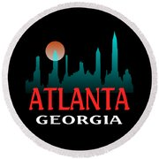 Atlanta Georgia Design Round Beach Towel