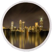 Atlanta Reflection Round Beach Towel