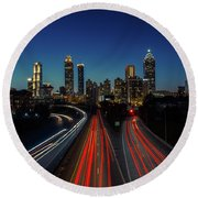 Atlanta Skyline 1 Round Beach Towel