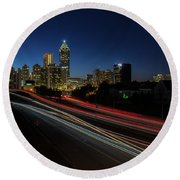 Atlanta Skyline 2 Round Beach Towel