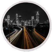 Atlanta Tones Round Beach Towel