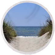 Atlantic Access Round Beach Towel