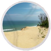 Atlantic Lookout Round Beach Towel