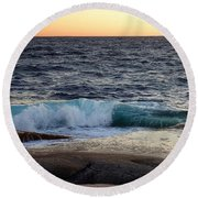 Atlantic Ocean, Nova Scotia Round Beach Towel