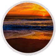 Round Beach Towel featuring the photograph Atlantic Reverie by John Harding