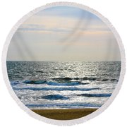 Atlantic Sunrise - Sandbridge Virginia Round Beach Towel