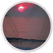 Round Beach Towel featuring the photograph Atlantic Sunrise by Sumoflam Photography