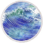 Atlantic Waves Round Beach Towel
