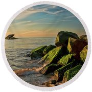 Atlantus Shipwreck Off The Jetty Round Beach Towel