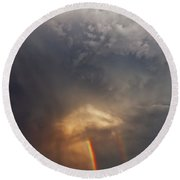 Round Beach Towel featuring the photograph Atmosphere by Rick Furmanek