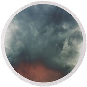 Atmospheric Combustion Round Beach Towel