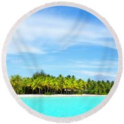 Atoll Round Beach Towel