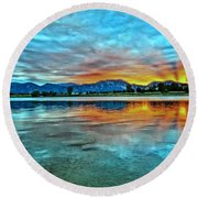 Atom  Round Beach Towel
