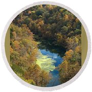 Atop Ha Ha Tonka National Forest Round Beach Towel