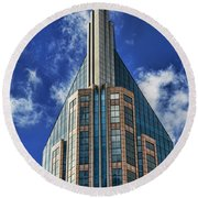 Round Beach Towel featuring the photograph Att Nashville by Stephen Stookey