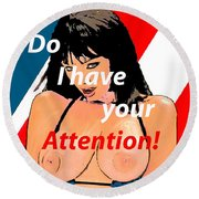 Attention Round Beach Towel