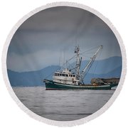 Round Beach Towel featuring the photograph Attu Off Madrona by Randy Hall