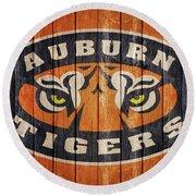 Auburn Tigers Barn Door Round Beach Towel