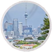 Auckland City C B D Round Beach Towel