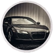Round Beach Towel featuring the photograph Audi R8 by Joel Witmeyer