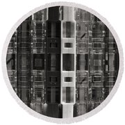 Audio Cassettes Collection Round Beach Towel