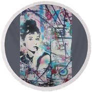 Audrey Chanel Round Beach Towel