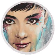 Audrey Round Beach Towel