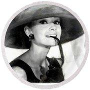 Audrey Hepburn 2 Round Beach Towel
