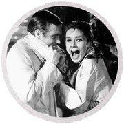 Audrey Hepburn As Holly Golightly Round Beach Towel