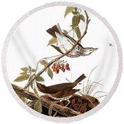 Audubon: Ovenbird Round Beach Towel
