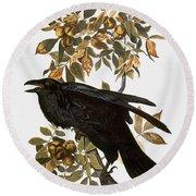 Audubon: Raven Round Beach Towel
