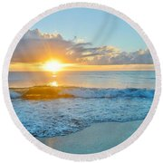 August 12 Nags Head, Nc Round Beach Towel