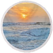 August 28 Sunrise Round Beach Towel