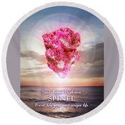 August Birthstone Spinel Round Beach Towel