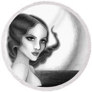 August Honey Colorless Round Beach Towel